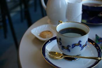 横浜石川町にある外交官の家喫茶室のコーヒー