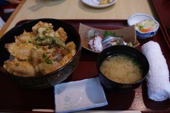 横須賀久里浜にある和食料理屋「さがみ湾」の天丼
