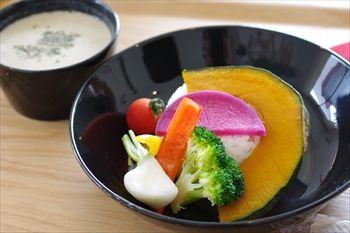 横浜市都筑ふれあいの丘にあるカフェ「ポンジー」のランチ