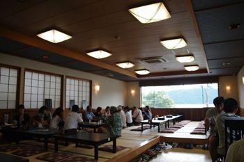 箱根にあるうどん屋さん「絹引の里」の店内