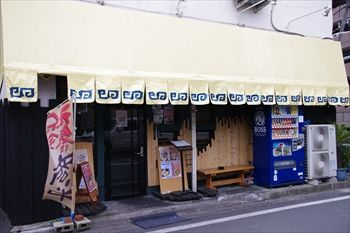 横浜石川町にあるラーメン店「濱塩らぁめん」の外観