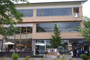 箱根にあるカフェ「ベーカリー&テーブル」の外観