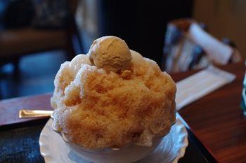 キュービックプラザ新横浜にある甘味処「文の助茶屋」のかき氷