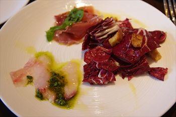 横浜みなとみらいにあるイタリアン「A16」の前菜