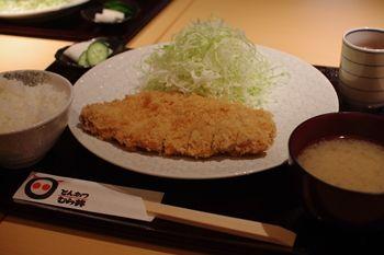 横浜鶴見にあるとんかつ屋さん「むら井」のとんかつ定食