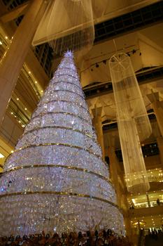 横浜みなとみらいランドマークプラザのクリスマスツリー