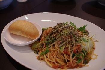 横浜センター北にあるダイニングカフェ「Tawaraya Cafe」のパスタ