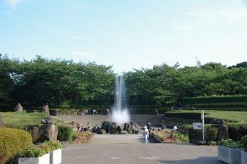 横浜市旭区にある公園「県立四季の森公園」の噴水