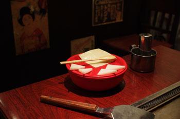 横浜シャルにあるおいしいお好み焼き屋「ゆかり」のお好み焼き