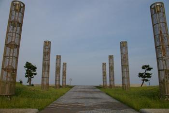 横浜港大黒海づり施設の公園