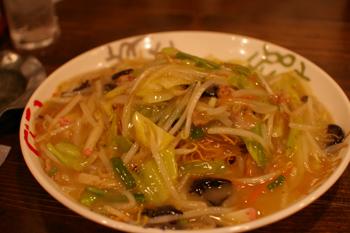 横浜西口の黒田屋ちゃんぽんの皿うどん