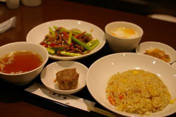 キュービックプラザ新横浜の中華レストラン「華正楼」の中華セット