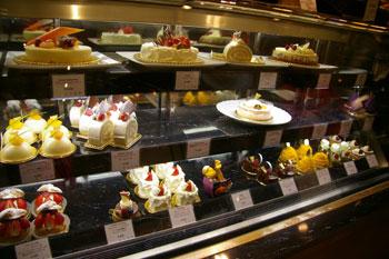 横浜みなとみらいのケーキショップ「ザ・パティセリー」のケーキ