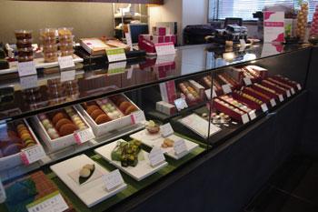 横浜元町にある和菓子のお店「香炉庵」の店内