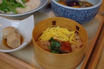 横浜シアルにあるおいしいうどん屋さん「嘉禾屋」の炊き込みご飯
