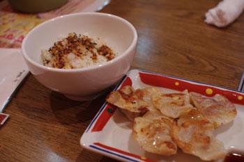 横浜港北モザイクモールの「太陽のトマト麺」のセット