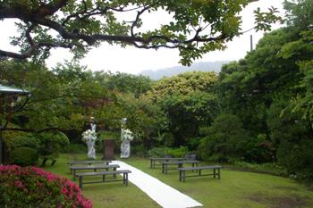葉山庵のお庭