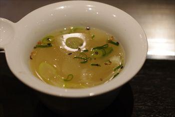 川崎武蔵小杉にあるお好み焼き屋「ぎゅんた」のスープ