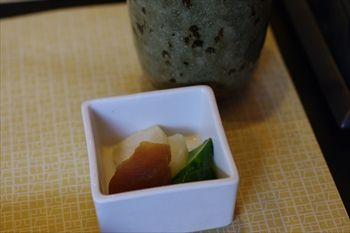 横浜市港北区にあるうなぎ料理専門店「しま村」のお新香