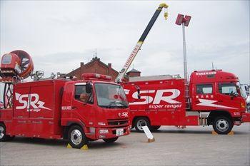横浜赤レンガ倉庫の「横浜防災フェア2013」の消防車