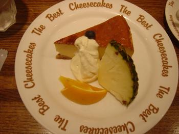 横浜元町「ザ・ベスト・チーズケークス」のメープルチーズケーキ