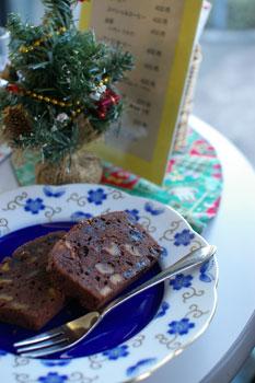 横浜石川町にある外交官の家喫茶室のパウンドケーキ