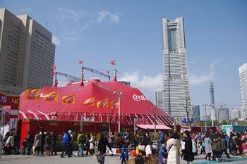 横浜桜木町で公演中の木下サーカス