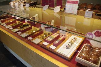 横浜元町にある和菓子屋さん「香炉庵」の店内