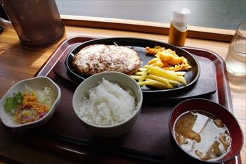 横浜関内にあるハンバーグ専門店「ファイヤーバーグ」のハンバーグ