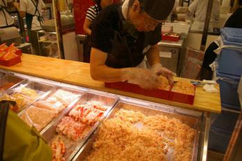 そごう横浜店の「北海道の物産と観光展」の実演販売