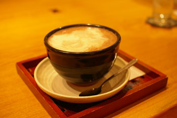 横浜センター北の「CAFE SALON SONJIN」のココア