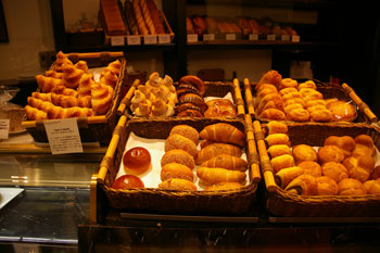 横浜みなとみらいのケーキショップ「ザ・パティセリー」のパン
