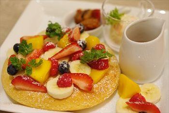 横浜にあるカフェ「トバゴ カフェアンドバー」のパンケーキ