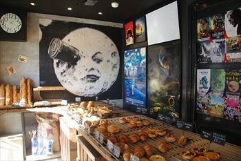 横浜北山田にあるパン屋さん「ブーランジェリー メリエス」の店内