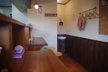 大和にあるラーメン店「しんたけ」の店内