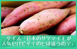 タイ人「日本のサツマイモが人気だけどタイのとは違うの?」