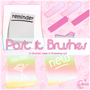 Post_it_Brushes_by_Brenda_by_Coby17