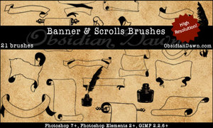 Banners_Scrolls_Brushes_by_redheadstock