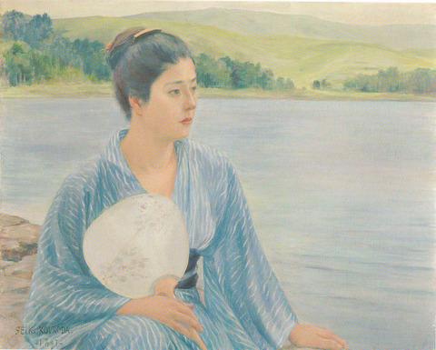 黒田清輝展 ポストカード 湖畔