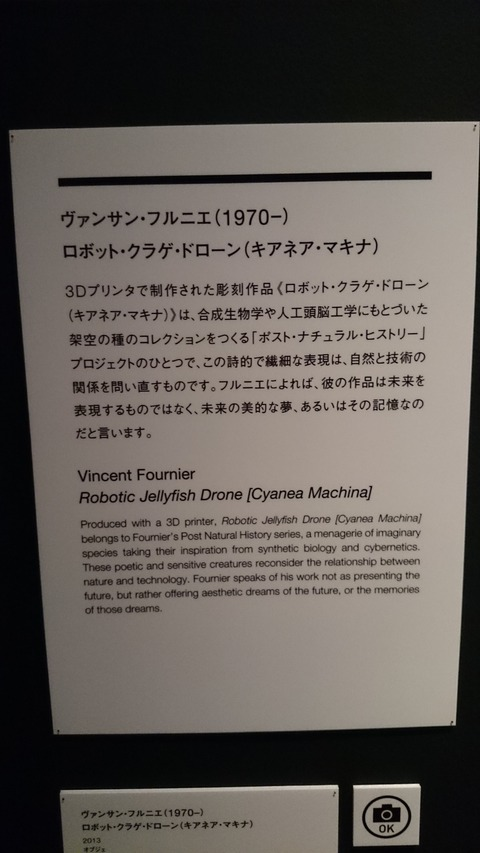 森美術館 宇宙と芸術展 ヴァンサン・フルニエ 解説