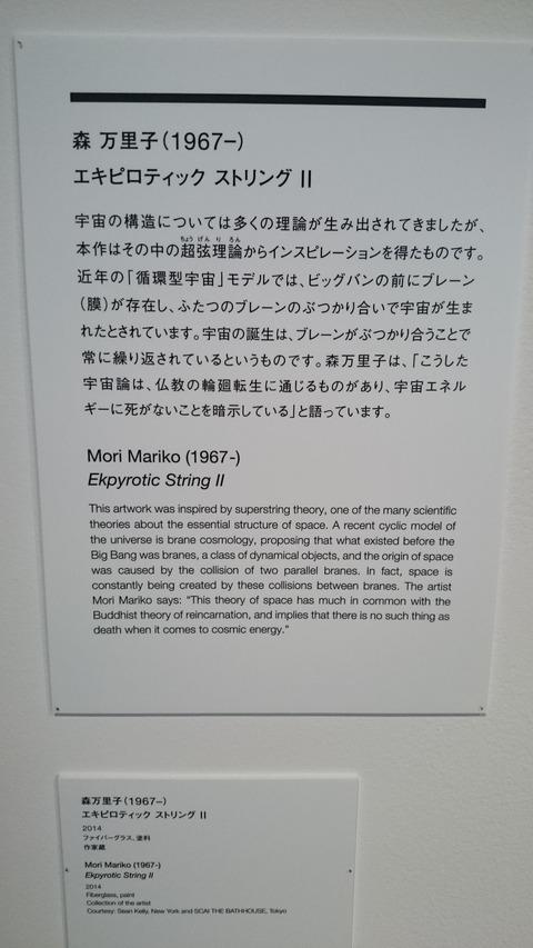 森美術館 宇宙と芸術展 森万里子 解説