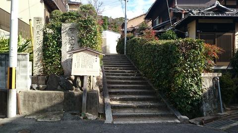 石峰寺 入口 階段 京都 若冲