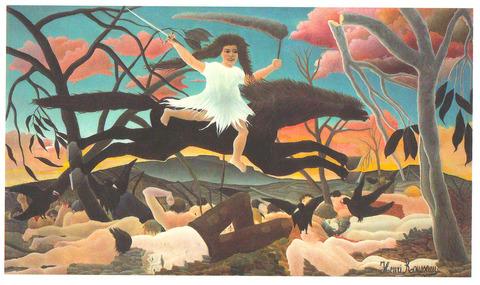 アンリ・ルソー展 2016 オルセー美術館 ポストカード 戦争