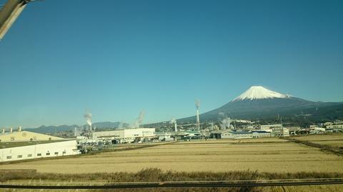 東海道新幹線 車窓 富士山