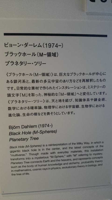 森美術館 宇宙と芸術展 ビョーン・ダーレム 解説