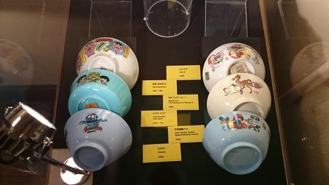 京都国際マンガミュージアム 展示 くらしの中のマンガ 茶碗