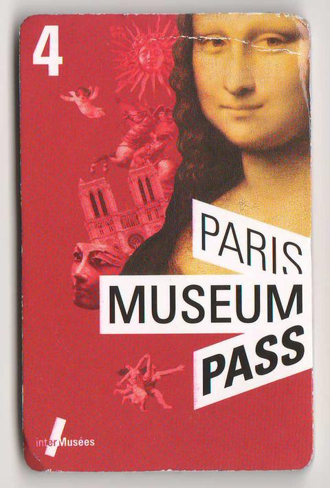 パリ・ミュージアム・パス 4日間用 表紙