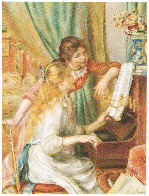 ルノワール展 ピアノを弾く少女たち