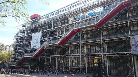 ポンピドゥー・センター 外観 パリ