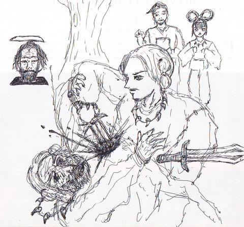 騎士団長殺し 描いてみた 村上春樹 イラスト 絵